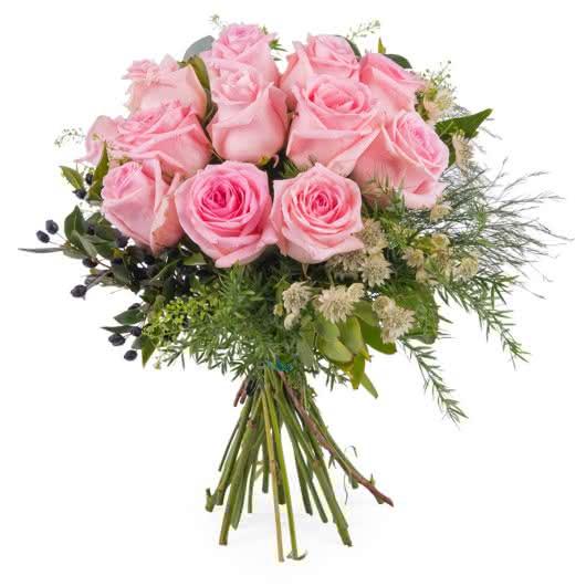 gracias rosas rosas de tallo corto - Imagenes De Ramos De Flores