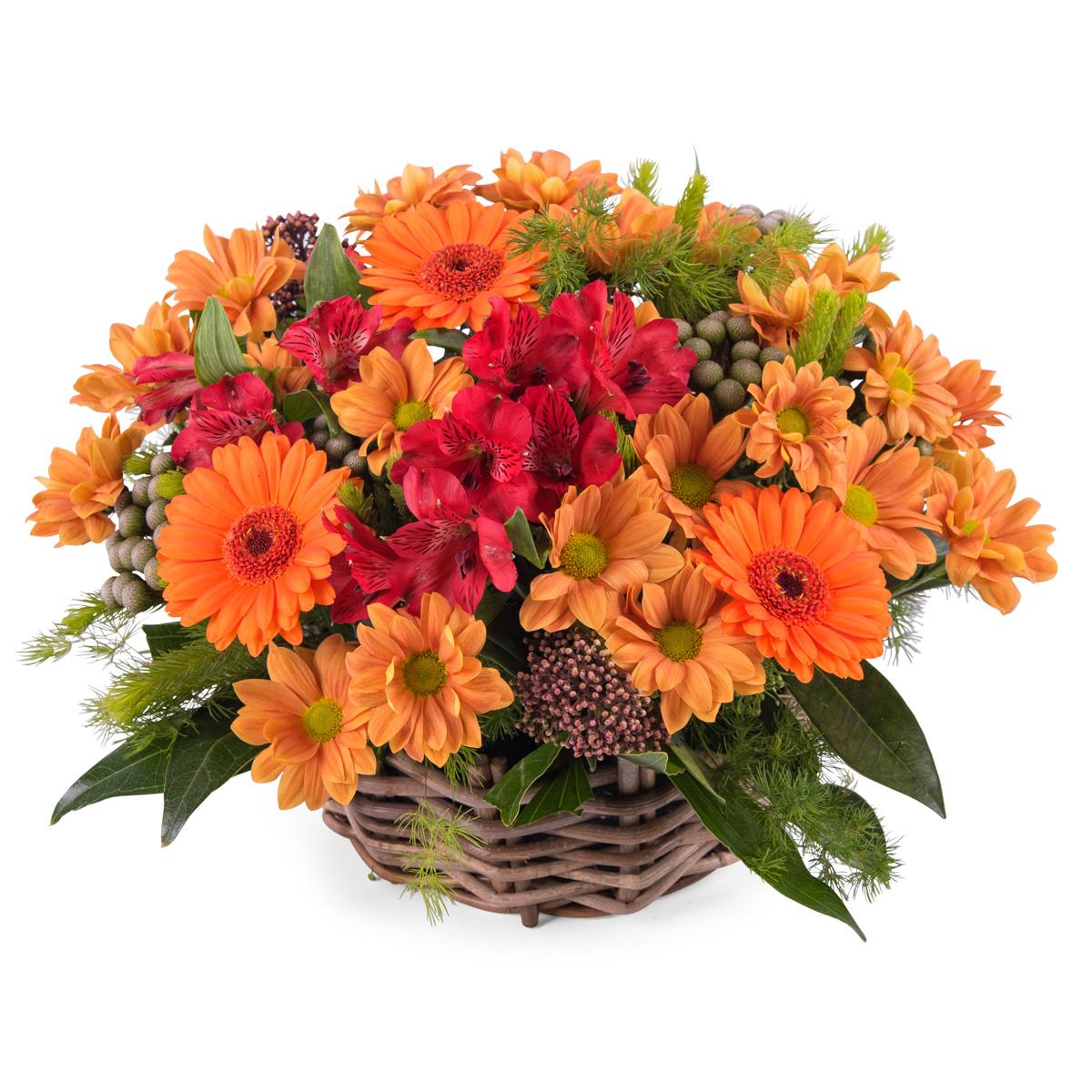 Arreglo en cesta de flor variada - Env?o de Flores a Domicilio