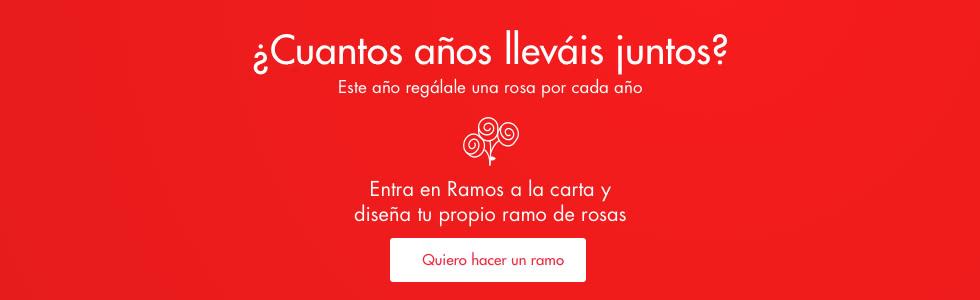 Elige el número de Rosas que quieres para tu ramo y el color de cada una para celebrar tu aniversario