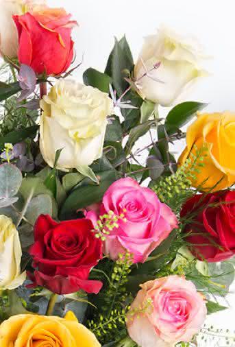 Blog Interflora - Flores en San Valentín: Ramo de rosas multicolor