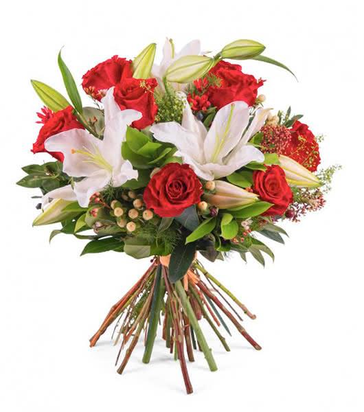 Cestas de flores y ramos navideños para la persona que amas