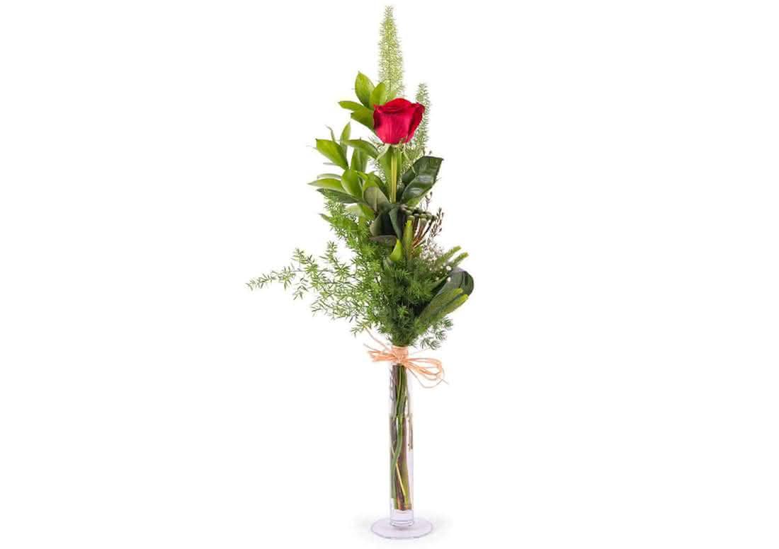 Mensajes de amor con rosas entregadas en mano en Sant Jordi