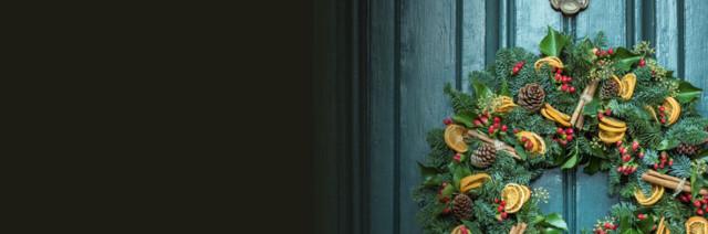 Decoración con flores para Navidad 2017-2018