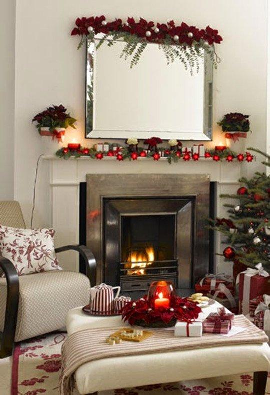 Decora tu casa para Navidad con flores
