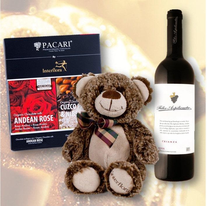 Regalos con chocolate o vino en Navidad
