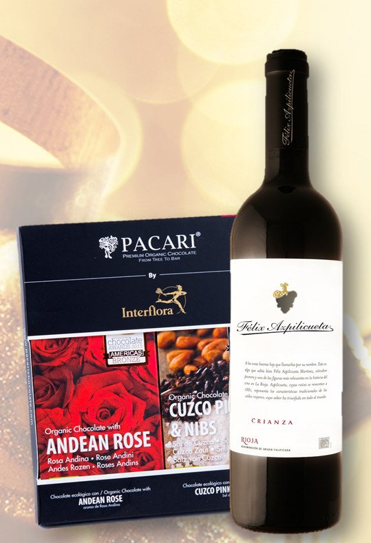 Regalar chocolate y vino con Interflora