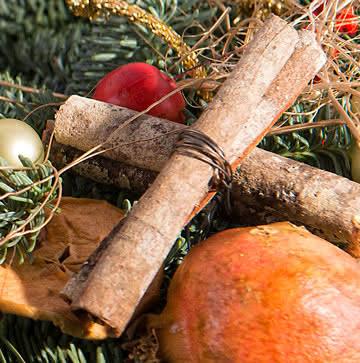 Enviar centro con decoración de navidad
