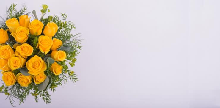 Enviar una ramo de rosas amarillas a domiclio