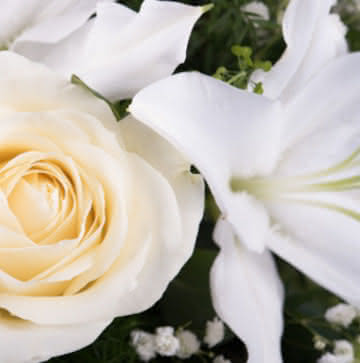 Corona de Flores funerarias para un entierro