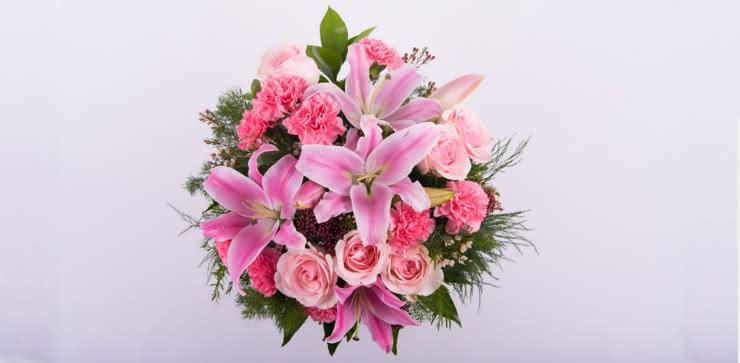 Enviar ramo de rosas y liliums a domicilio