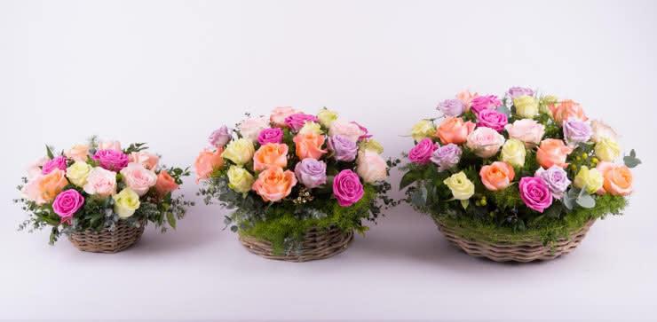 Enviar una centro de rosas a domiclio