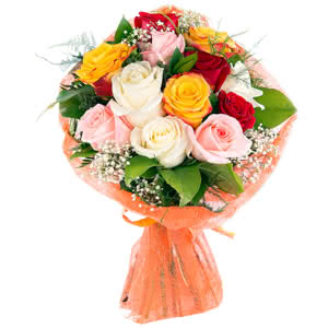 Ternura - Ramo de rosas multicolor