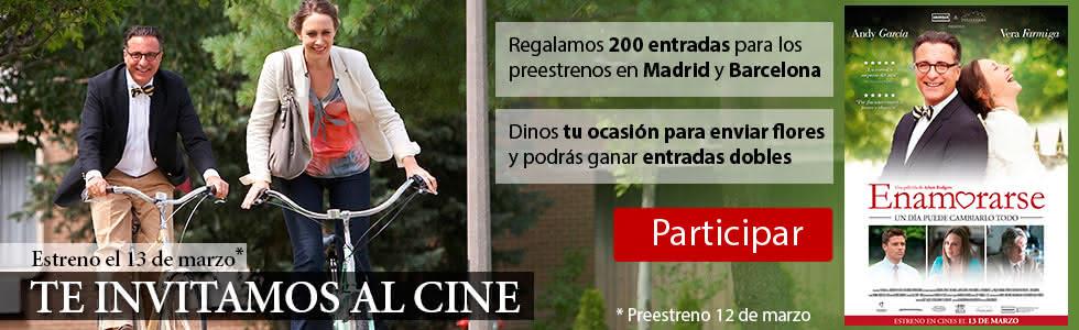 Sorteo de 200 entradas para el preestreno de la película Enamorarse en Madrid y Barcelona el 12 de marzo.