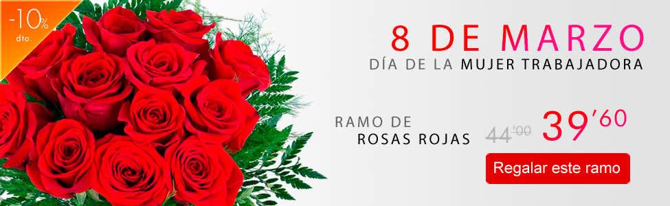 Regalar rosas rojas para el 8 de marzo, Día de la mujer trabajadora 2015