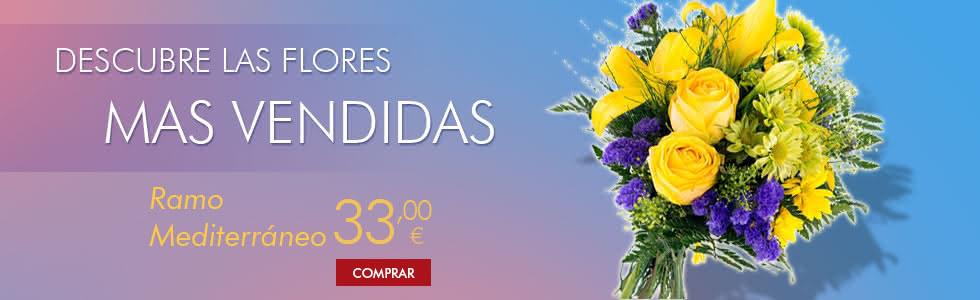 Flores mas vendidas en Interflora