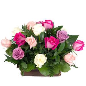 Provenza - Centro de rosas multicolor
