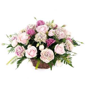 Borgoña - Centro romantico en tonos rosas