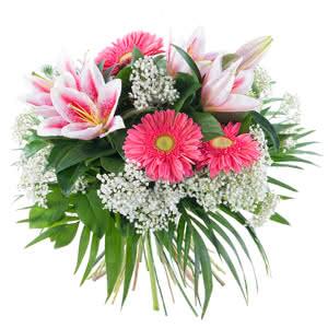Equinoccio - Ramo de flores con gerberas y lirios