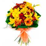 Ramo premium de Rosas Rojas y Lirios amarillos para el 23 de abril